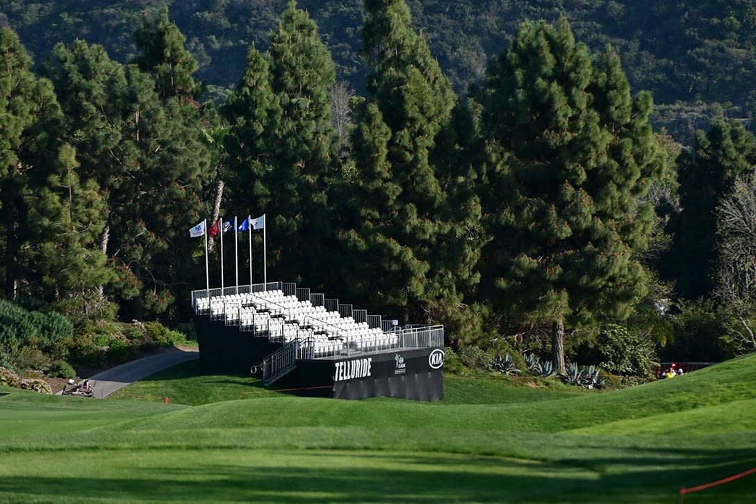 Grandstands on fairway